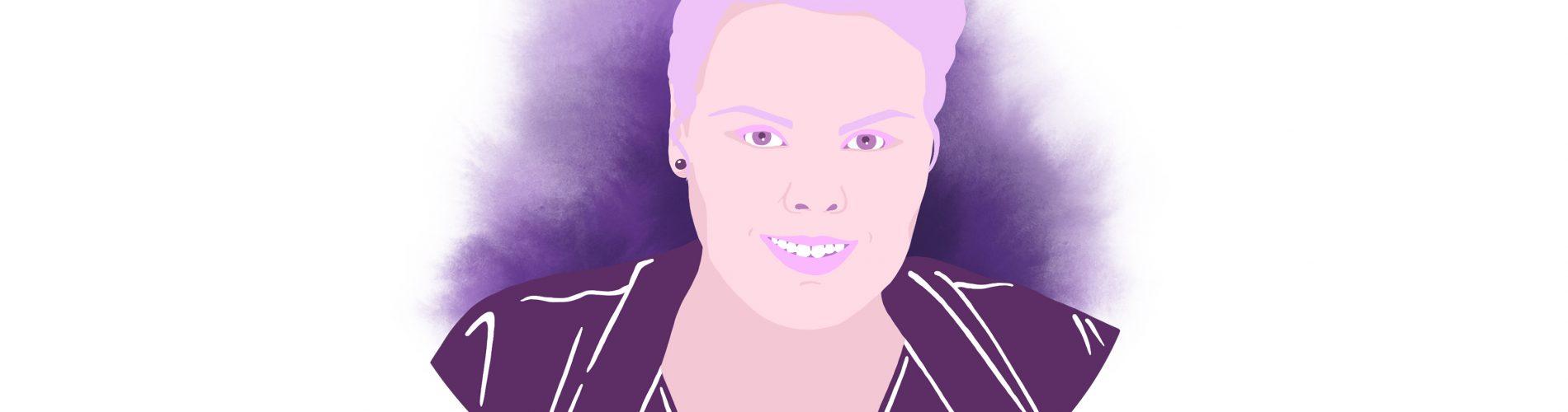 Lena Jäger Frauenvolksbegehren purpurr Illustration