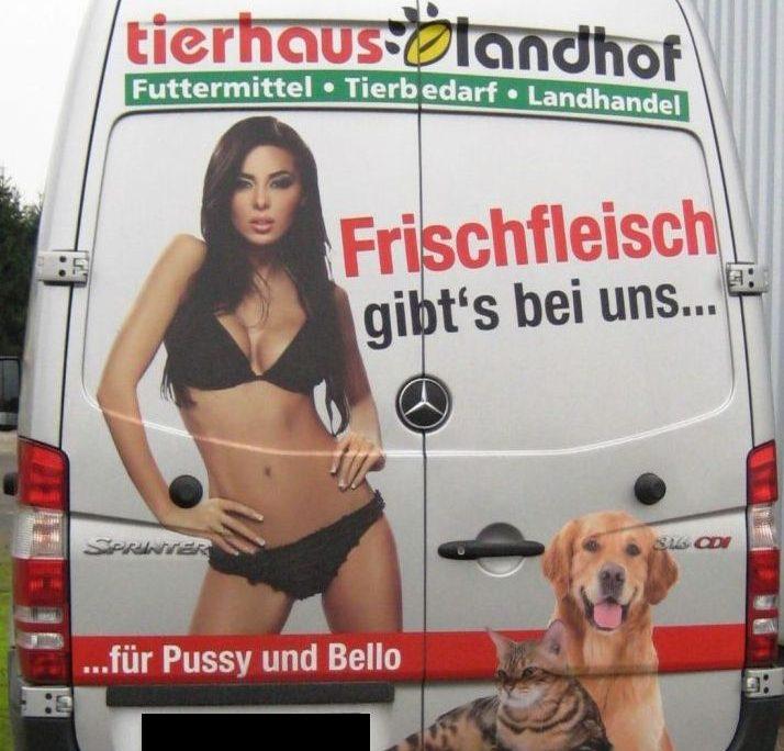 Tierhaus Landhof, Sexistische Werbung, Sexismus, sexistisch, Sexualisierung, Objektivierung